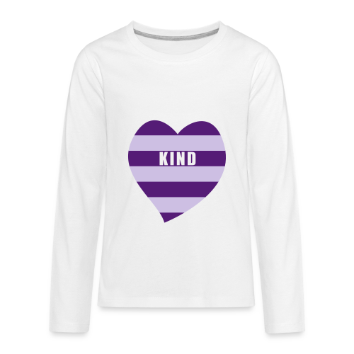 Kind in Heart - Kids' Premium Long Sleeve T-Shirt