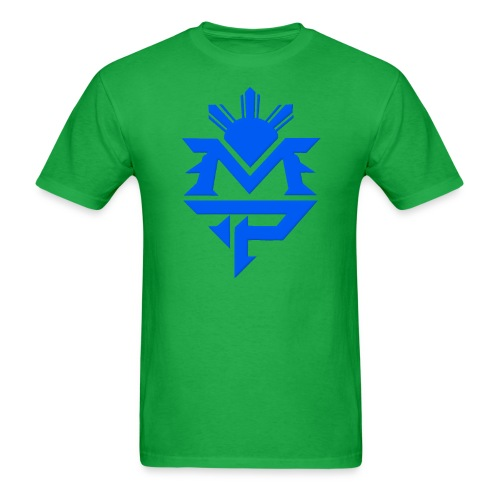 MP-Lime Green and Blue - Men's T-Shirt