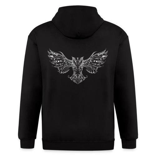 Owl Tattoo style zip hoodie - Men's Zip Hoodie
