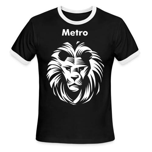 Lion Metro T-Shirt - Men's Ringer T-Shirt