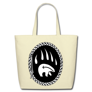 Tribal Bear Art Tote Bag - Shopping Bags - Eco-Friendly Cotton Tote