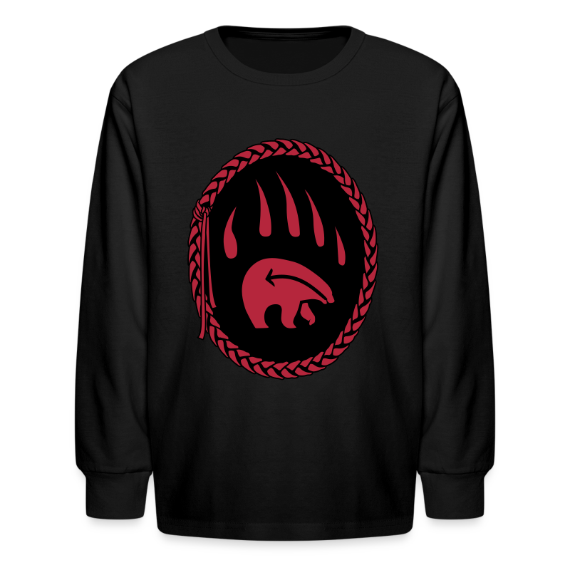 Tribal Claw Art Kid's Shirt Long Sleeve - Kids' Long Sleeve T-Shirt