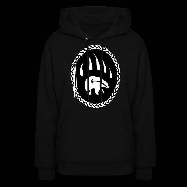 First Nations Bear Hoodie Tribal Art Womens Sweatshirt