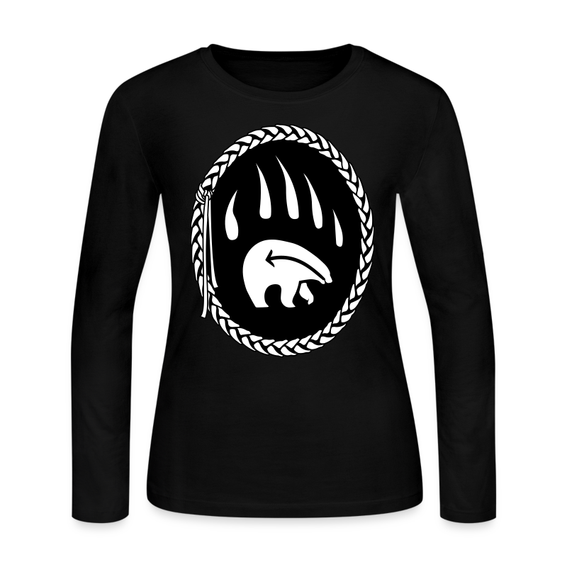 First Nations Bear Shirt Women's Long Sleeve - Women's Long Sleeve Jersey T-Shirt