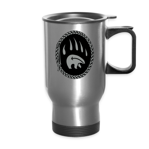 Tribal Bear Claw Travel Mugs First Nations Art - Travel Mug