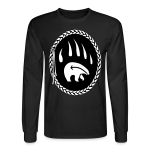 Tribal Bear Shirt Men's Long Sleeve Shirt - Men's Long Sleeve T-Shirt