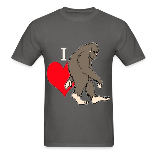 I love Bigfoot 1 - Men's T-Shirt