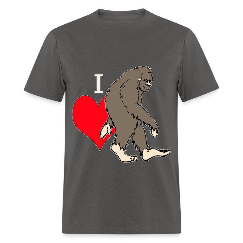 I love Bigfoot 1 - Men's T-Shirt