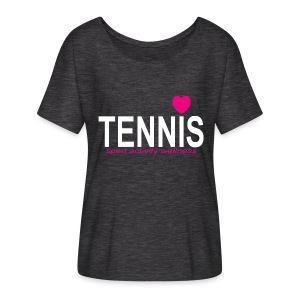 Tennis white sign - Women's Flowy T-Shirt
