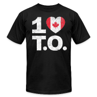 T-Shirts ~ Men's T-Shirt by American Apparel ~ 1 ♥ Canada T.O. Tee