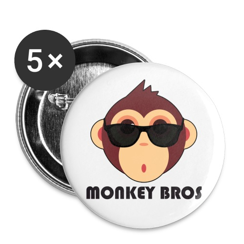 Monkey Bros Button - 5 Pack - Large Buttons