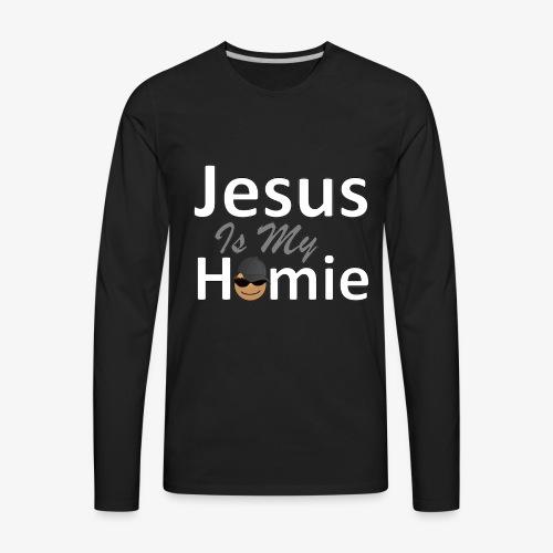 Jesus Is My Homie LS Tee Men - Men's Premium Long Sleeve T-Shirt
