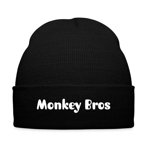Monkey Bros Knit Hat - Knit Cap with Cuff Print