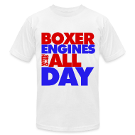 T-Shirts ~ Men's T-Shirt by American Apparel ~ Boxer Engines All Day Men