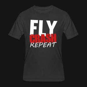 FLY CRASH REPEAT TEE BLACK - Men's 50/50 T-Shirt