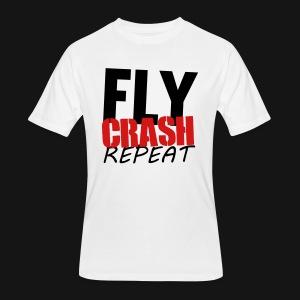 FLY CRASH REPEAT TANK WHITE - Men's 50/50 T-Shirt