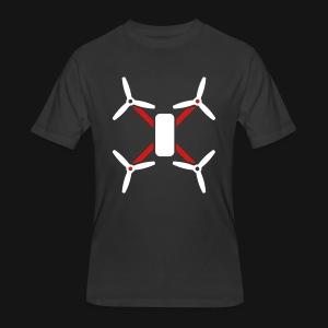 QUAD TEE BLACK - Men's 50/50 T-Shirt