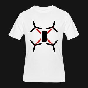 QUAD TEE WHITE - Men's 50/50 T-Shirt