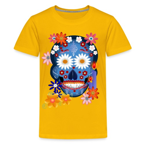 DarkSkull-Day Of The Dead. - Kids' Premium T-Shirt