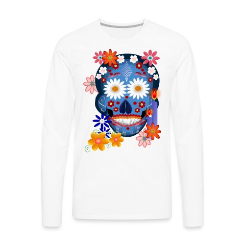 DarkSkull-Day Of The Dead. - Men's Premium Long Sleeve T-Shirt