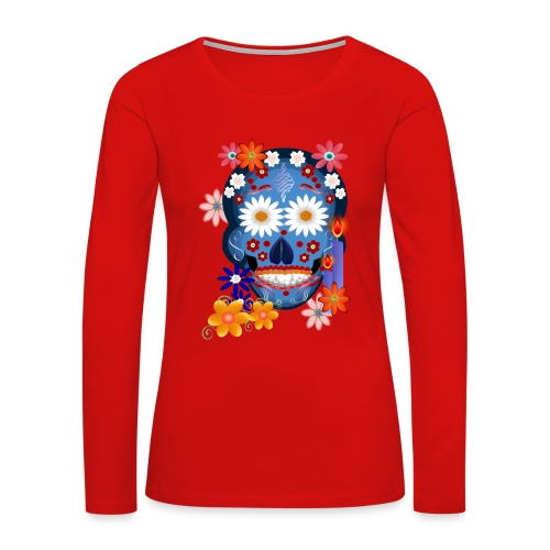 DarkSkull-Day Of The Dead. - Women's Premium Long Sleeve T-Shirt