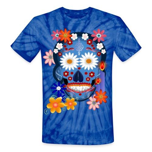 DarkSkull-Day Of The Dead. - Unisex Tie Dye T-Shirt
