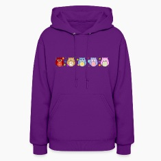 Cute Colorful Owls and flowers Hoodies