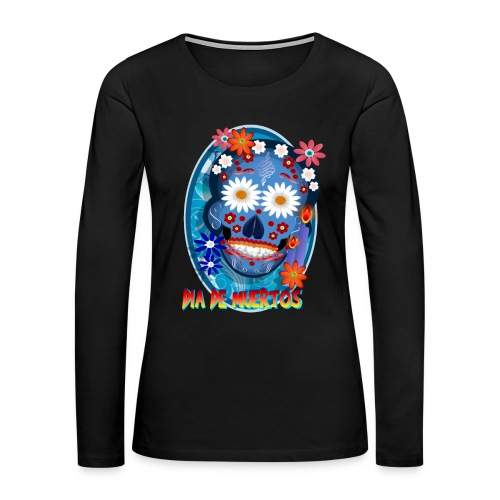 DarkSkull-Día de Muertos - Women's Premium Long Sleeve T-Shirt