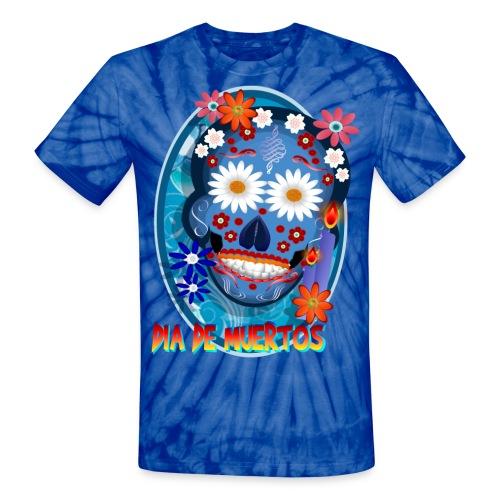 DarkSkull-Día de Muertos - Unisex Tie Dye T-Shirt