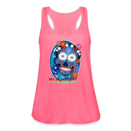 DarkSkull-Día de Muertos - Women's Flowy Tank Top by Bella