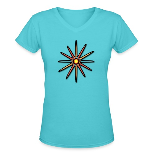 Star - Women's V-Neck T-Shirt