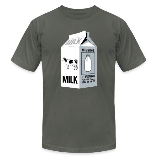 Ironic Milk Missing Message  - Men's Fine Jersey T-Shirt