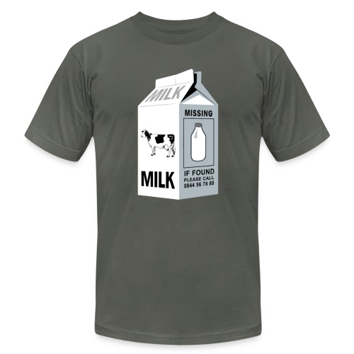 Ironic Milk Missing Message  - Men's  Jersey T-Shirt