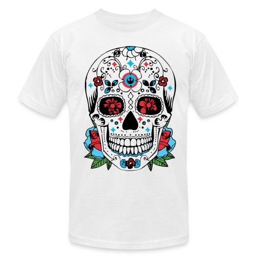 Mexican Day of the Dead Skull t-shirt  - Men's Fine Jersey T-Shirt