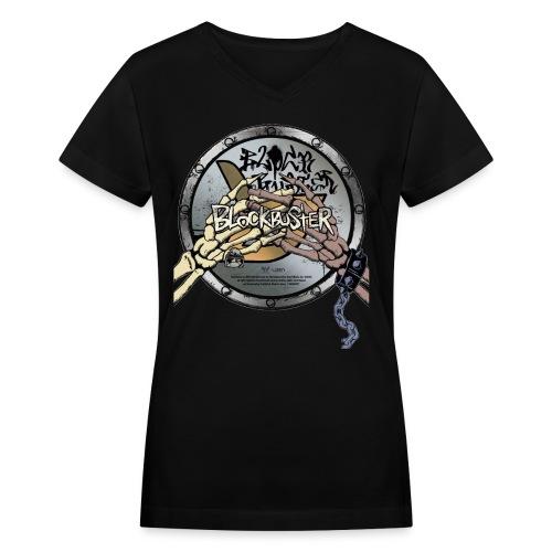 Block B Blockbuster Women's V-Neck - Women's V-Neck T-Shirt