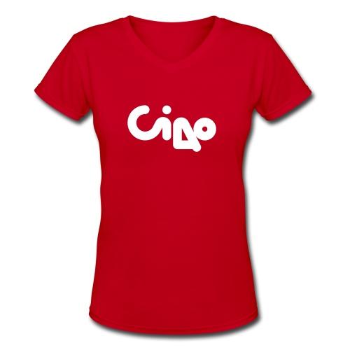 Ciao Tour 1976 Womens V (white) - Women's V-Neck T-Shirt
