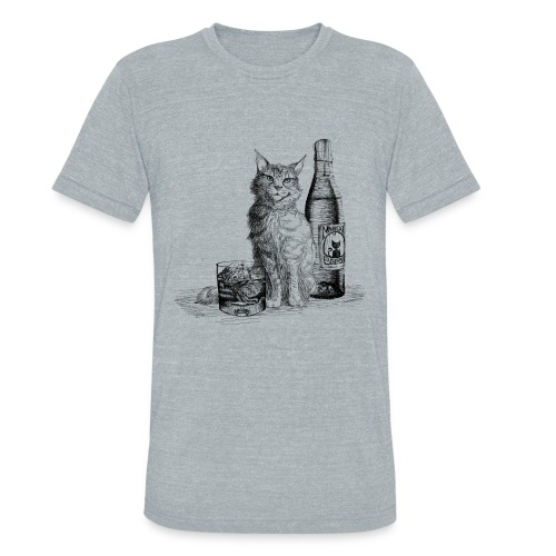 Bourbon Cat (Vintage) - Unisex Tri-Blend T-Shirt