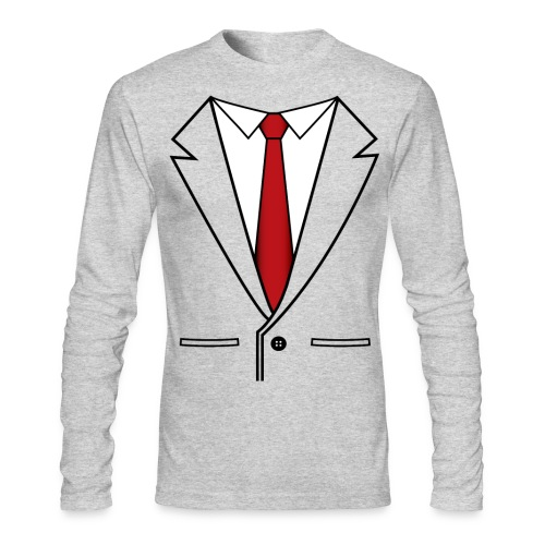 Red Tie T-Shirt - Men's Long Sleeve T-Shirt by Next Level