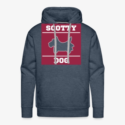 Comfy Hooded Scotty Dog - Men's Premium Hoodie