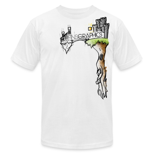 Finsgraphics T-Shirt - Men's T-Shirt by American Apparel