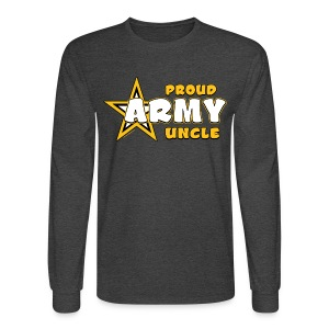 Army Uncle Long Sleeve T Shirts - Bold Gold - Men's Long Sleeve T-Shirt