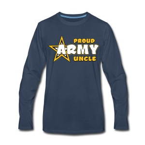 Army Uncle Long Sleeve T Shirts -Premium- Bold Gold - Men's Premium Long Sleeve T-Shirt