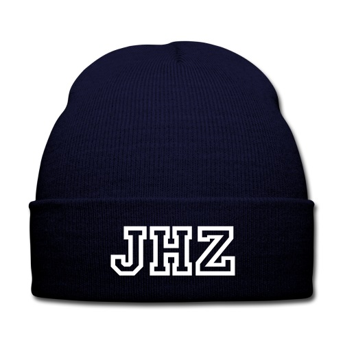 JHZ Knitted Cap - Blue - Knit Cap with Cuff Print