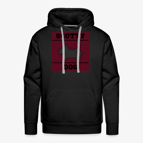 Dark Scotty Dog Classic - Men's Premium Hoodie