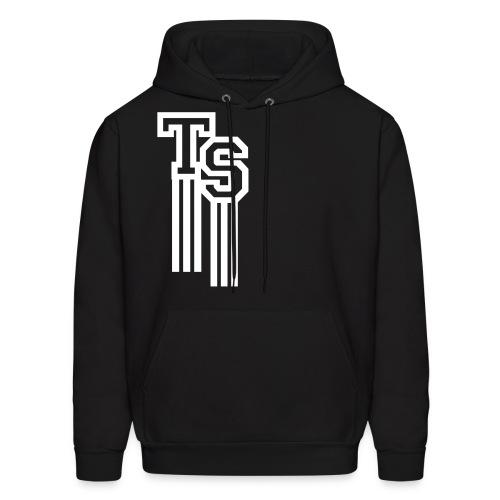 Black/White Premium Hoodie (Pullover)(TreStylez) - Men's Hoodie