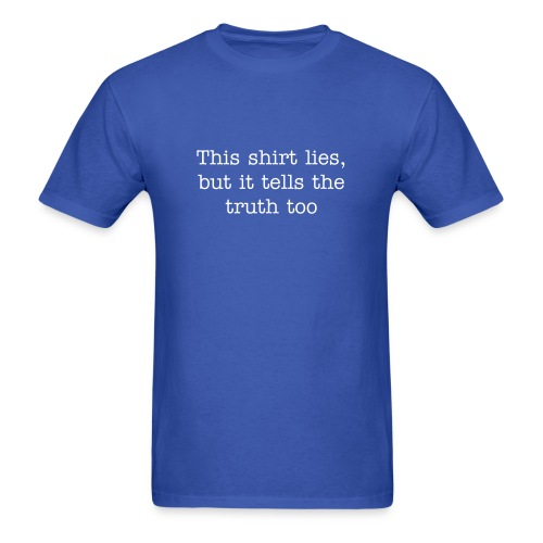Lie vs Truth T-Shirt - Men's T-Shirt