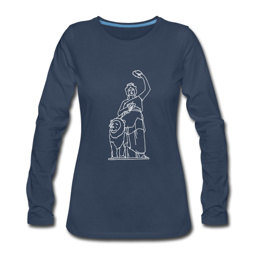 Bavaria statue in Munich - Women's Premium Long Sleeve T-Shirt