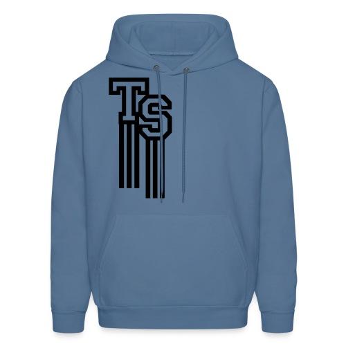 Denim Blue/Back Premium Hoodie (Pullover)(TreStylez) - Men's Hoodie
