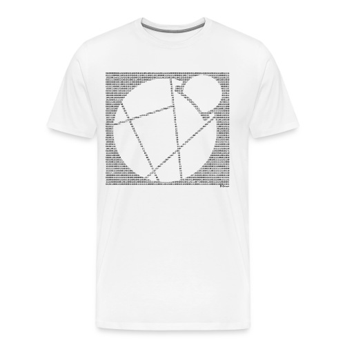 Binary Reddcoin - Men's Premium T-Shirt