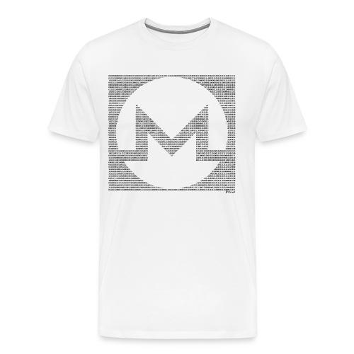 Binary Monero - Men's Premium T-Shirt